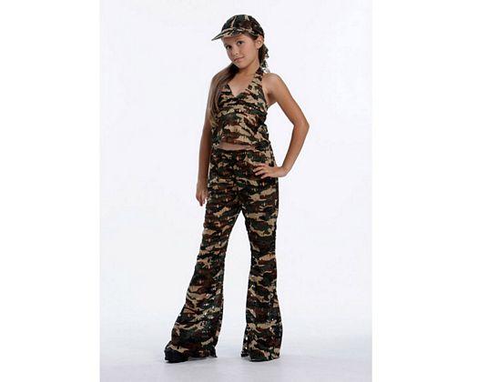 Disfraz de soldado de guerra 7-9 años niña