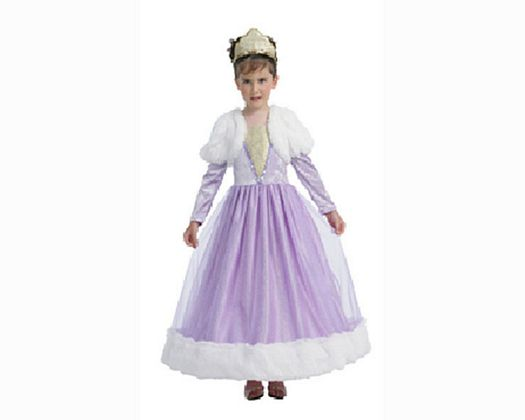Disfraz de reina violeta 7-9 años