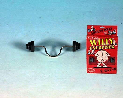 Artículo broma pesas para ejercitar a willy
