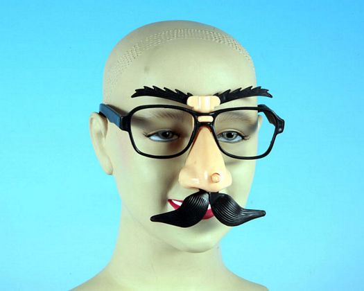 Gafas bigote y cejas moviles