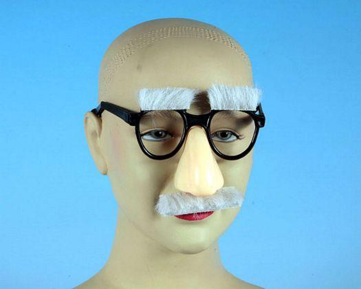 Gafas cejas y bigote de anciano
