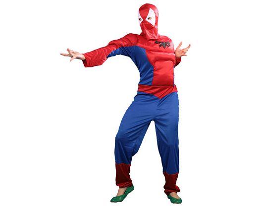 Disfraz de heroe araÑa musculoso, adulto h