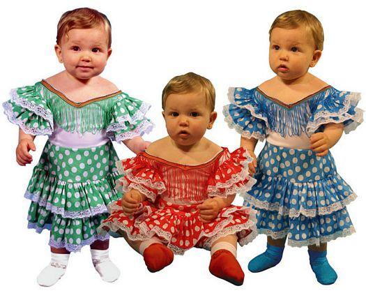 Disfraz de sevillana, 3st Talla 2 (5 – 6 años)