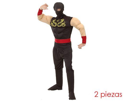 Disfraz de ninja musculoso, adulto