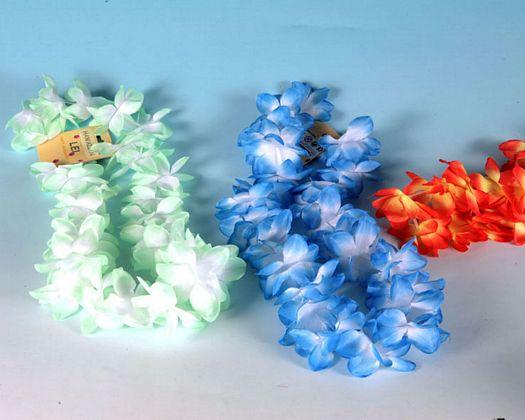Collar flores tela 4 colores surtido