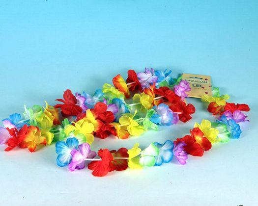 Collar flores tela bicolor sur 4
