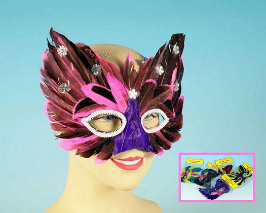 Mascara de plumas colores surtdo 10 color