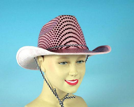 Sombrero cowboy circulos rosa brillante
