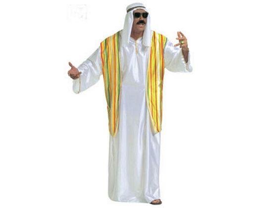 Disfraz de peregrino arabe, adulto Talla 2 (M-L)