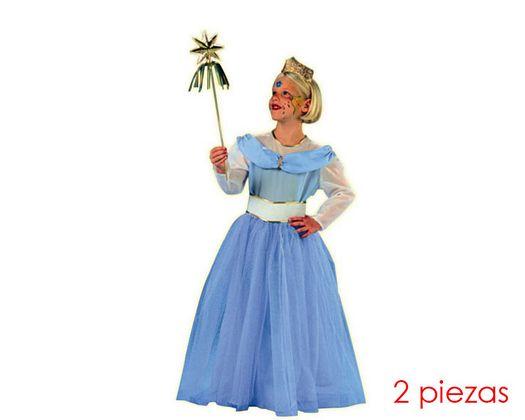 Disfraz de hada madrina azul 10-12 aÑos