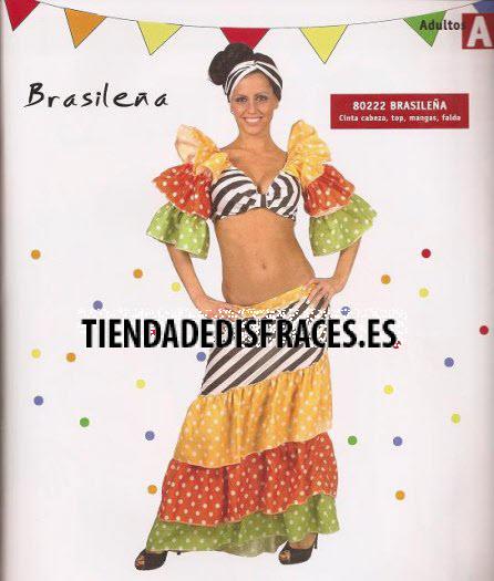Disfraz De Brasile  A Adulta
