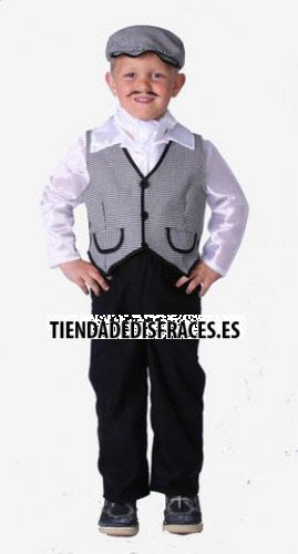 Disfraz de Chulapo infantil talla 0 a 3 años, talla 0