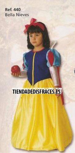 Disfraz de Bella Nieves infantil Talla 9 a 11 años