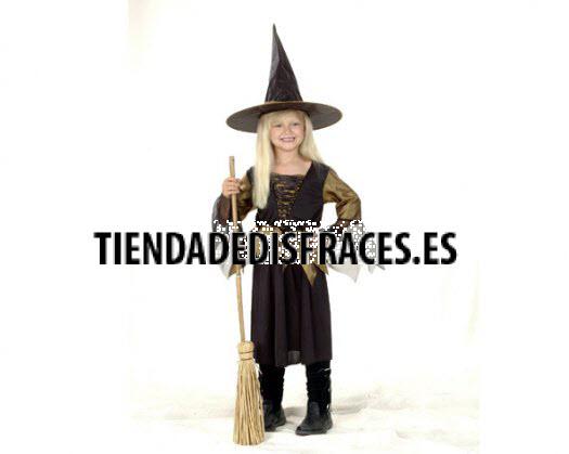 Disfraz de niña bruja 7-9 años