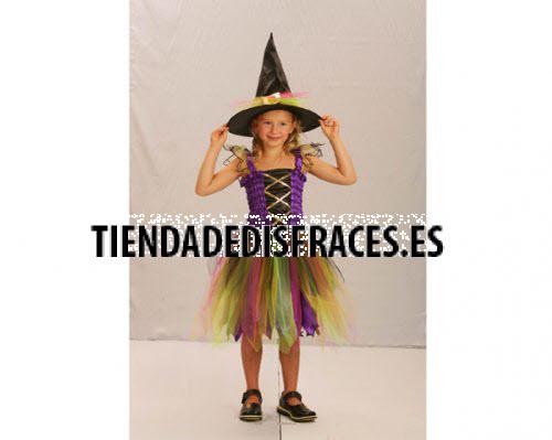 Disfraz de Hechicera Arco Iris 4-6 años