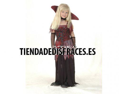 Disfraz de Vampiresa Gótica infantil 7-9 años