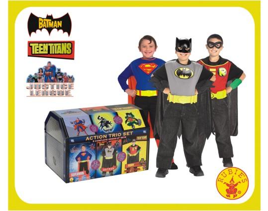 Cofre de superheroes Batman Robin y Superman