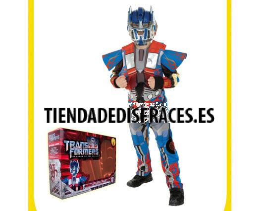 Disfraz de Optimus Prime transformes de lujo 5 a 7 años