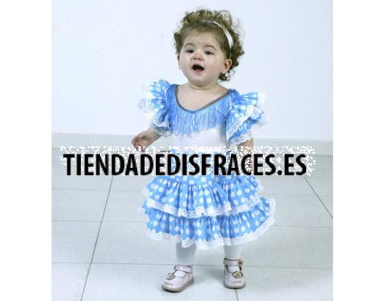 Disfraz de  Flamenca Azul Infantil 1-2 Años