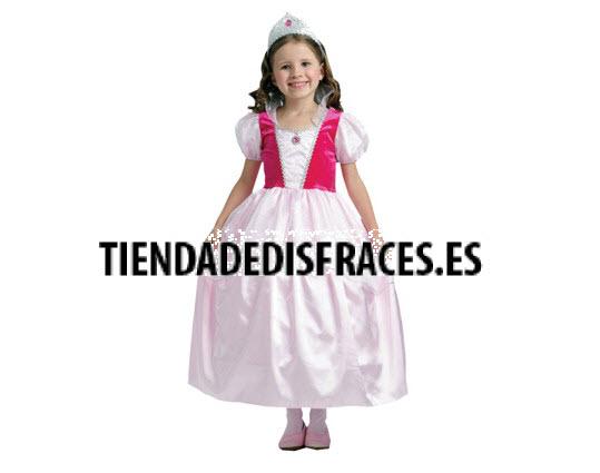 Disfraz de Princesa Rosa 10-12 Años