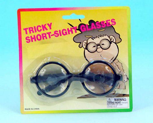 Gafas con cristales gruesos