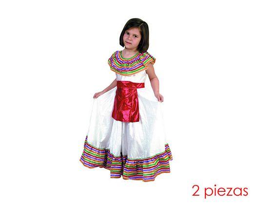 Disfraz de mejicana niñas Talla 3 (7 – 9 años)