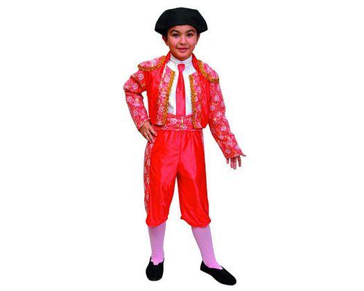 Disfraz de torero color rojo 7-9 años