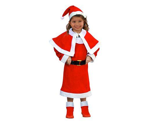 Disfraz de mama noel niñas Talla 2 (5 – 6 años)