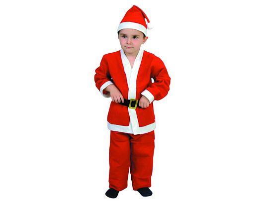 Disfraz de papa noel niñ0s Talla 4 (10 – 12 años)