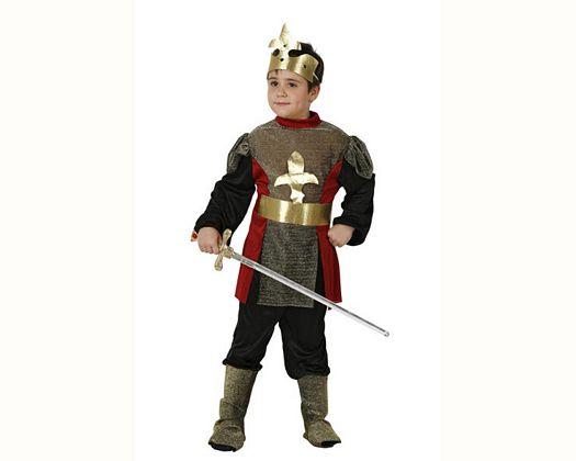 Disfraz de caballero medieval, Talla 3 (7 – 9 años)