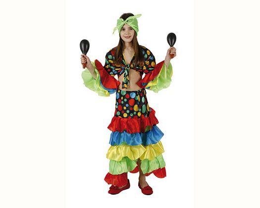 Disfraz de rumbera Talla 4 (10 – 12 años)