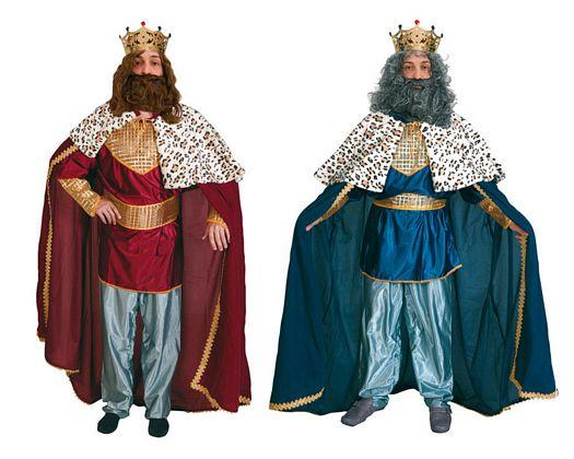 Disfraz de rey mago Rojo adultos
