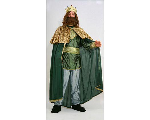 Disfraz de rey mago Verde adultos