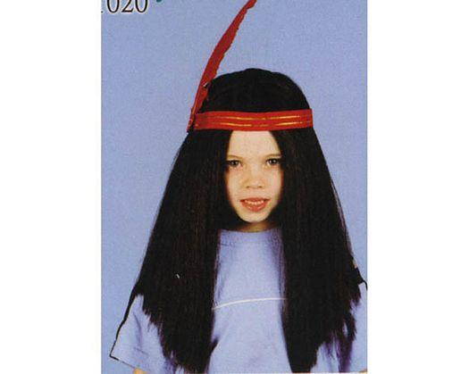 Pvc peluca indio pluma niño