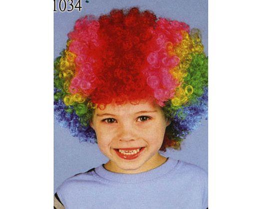 Peluca rizos multicolor niños