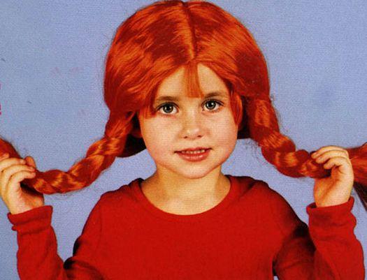 Pvc peluca trenzas  pipi  niñas