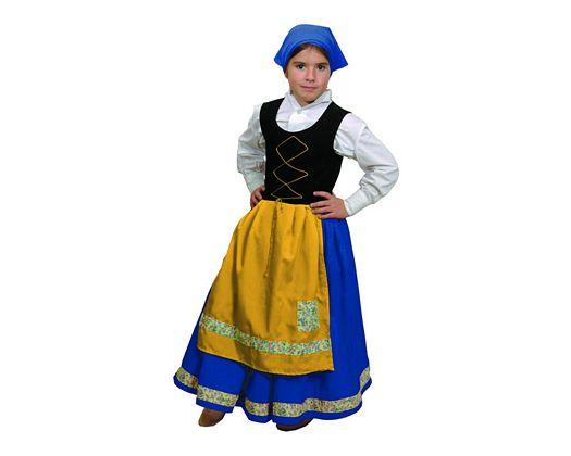 Disfraz de pastora azul niÑa 7-9 aÑos