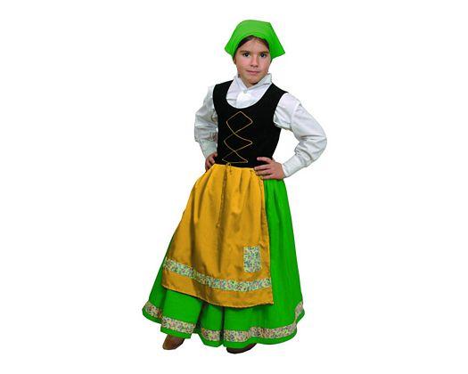 Disfraz de pastora verde Talla 3 (7 – 9 años) años