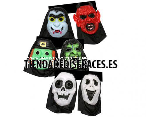 Lote de 2 máscaras de terror