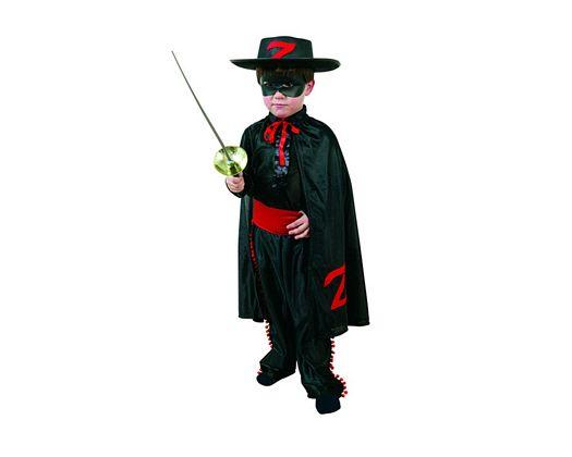 Disfraz de heroe enmascarado camisa negra 3-4