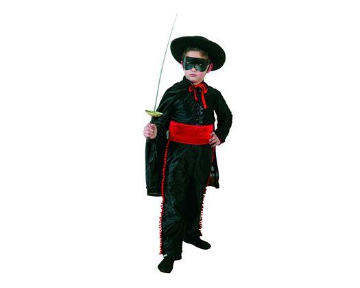 Disfraz de heroe enmascarado camisa negra talla 1  (3-4 años)