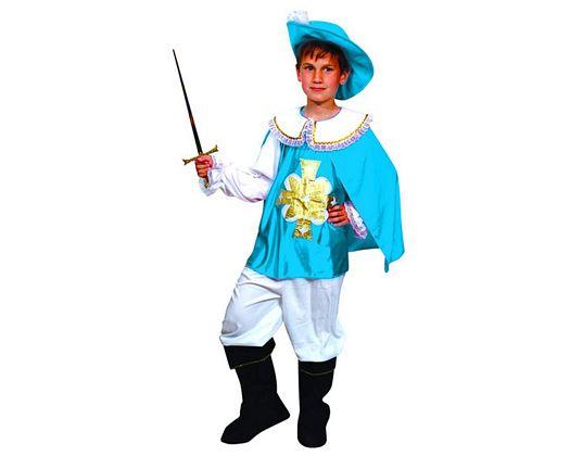 Disfraz de mosquetero azul niños 7-9 años