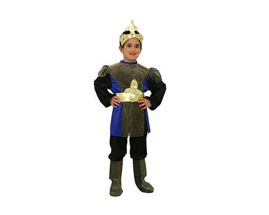 Disfraz de caballero medieval azul Talla 2 (5 – 6 años)