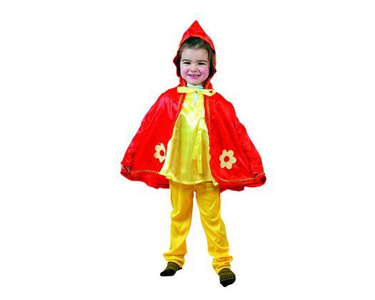 Disfraz de caperuza roja niña Talla 1 (3 – 4 años) años