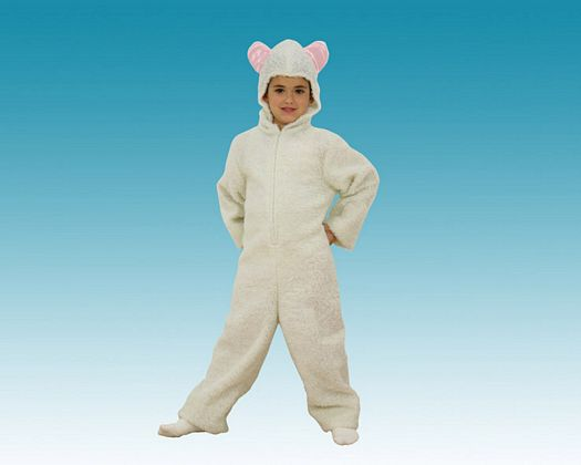Disfraz de ovejita blanca t-1