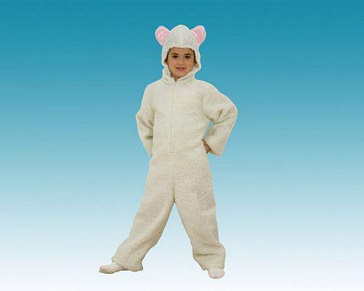 Disfraz de ovejita blanca, Talla 3 (7 – 9 años)