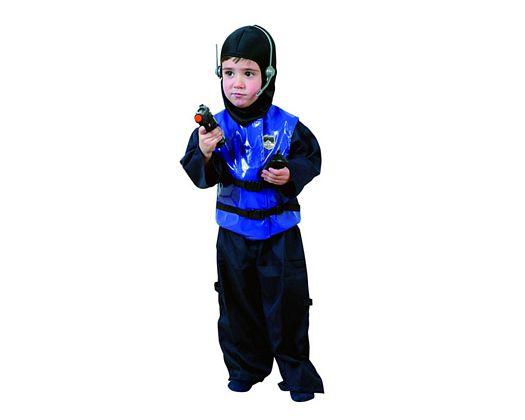 Disfraz de policia de asalto niÑos 3-4