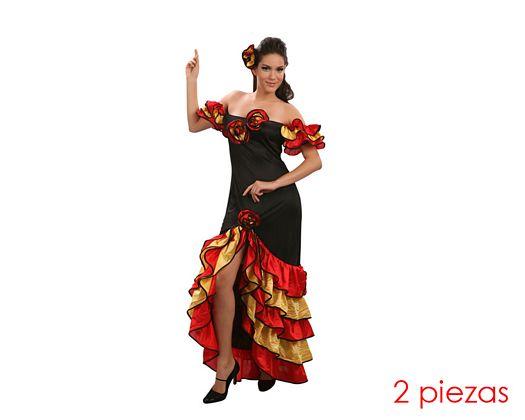 Disfraz de flamenca mujer Talla M-L