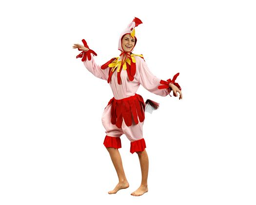 Disfraz de gallina adulto