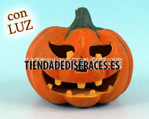 Calabaza Halloween con luz 19 cm